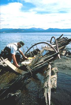 Shipwreck EC Waters, Yellowstone National Park. Photo courtesy Brett Seymour, NPS