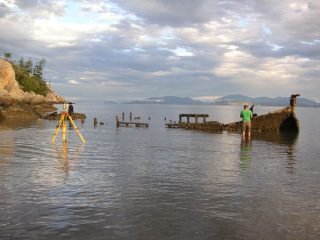 George Rennie shipwreck site. Photo courtesy of Bradley Garrett.