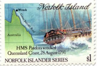 HMS Pandora commemorative stamp