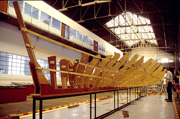Reconstructing a ship of discovery in a Portuguese museum. Photo courtesy CNANS.