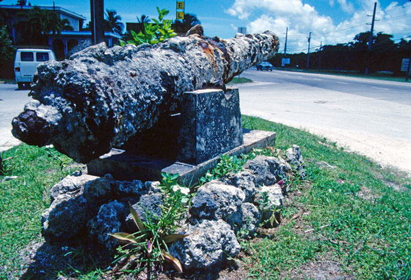 cannon from 1733 Spanish fleet rotting away